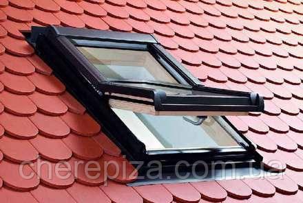 Вікно мансардне Designo WDT R45 H N WD AL 07/09 EF