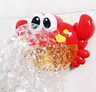 Іграшка дитяча для ванни піноутворювач Музичний краб з 18 місяців, фото 2