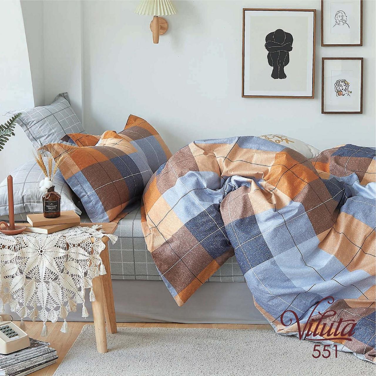 Комплект постельного белья Вилюта полуторный Сатин Twill 551