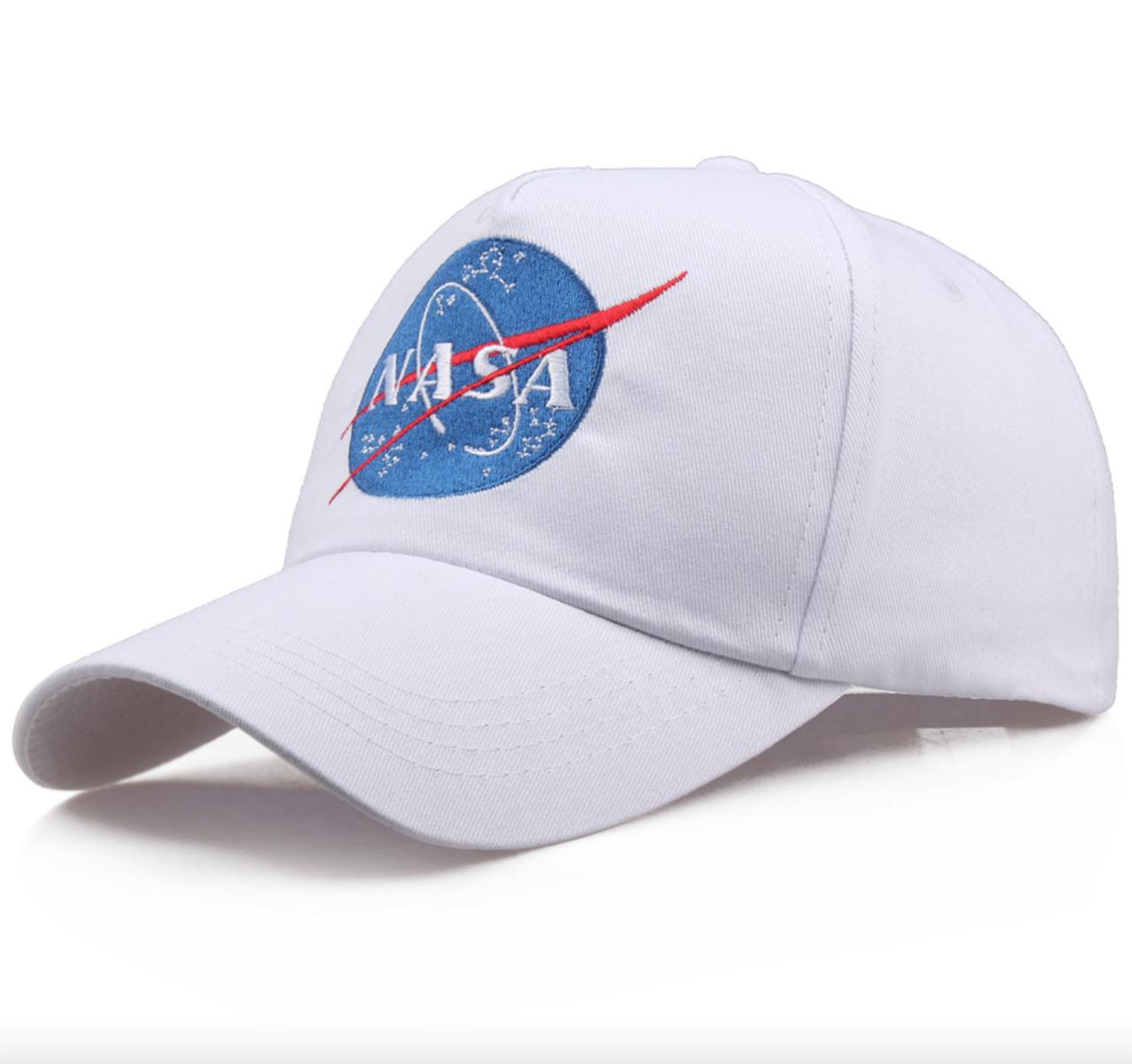 Кепка Бейсболка Мужская Женская NASA НАСА Белая