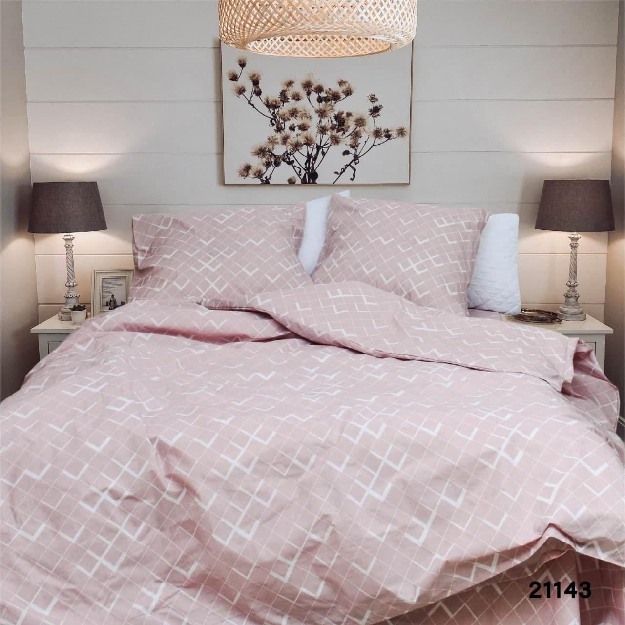 Комплект постельного белья двухспальный ранфорс 21143