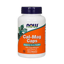 Кальций + магний NOW Cal-Mag Caps 120 капсул
