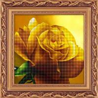 Набор для рисования камнями (холст) 5D Желтая роза LasKo