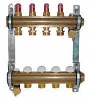"""Комплект для теплого пола DN 25 (1"""") с расходомерами 2,5 л/мин и термостатическими кран- буксами"""