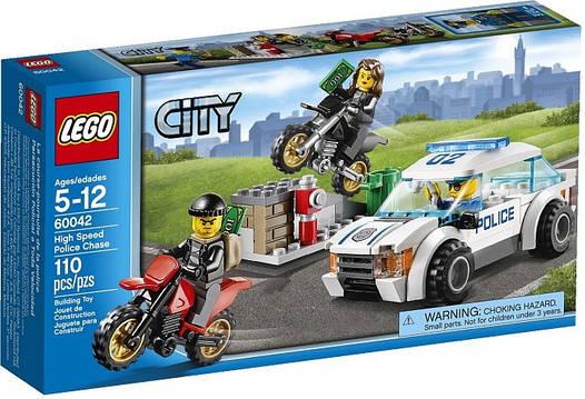 LEGO 60042 City - Гонитва за злодюжками-байкерами (Лего Сити Погоня за воришками-байкерами)