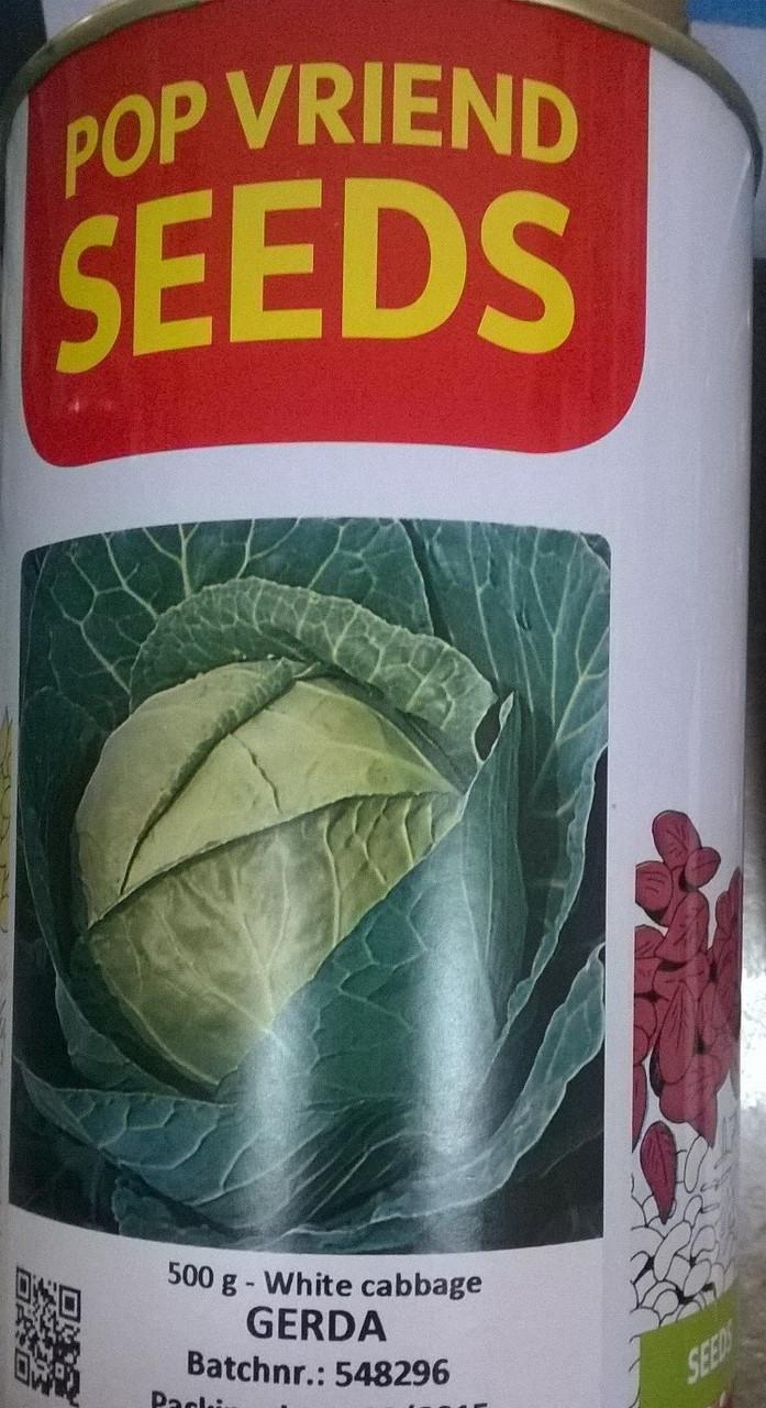 "Капуста Герда 500г (банка) Pop Vriend Seeds - Інтернет магазин ""Урожай"" (засоби захисту рослин, насіння,добрива) в Львовской области"