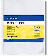 Economix Файлы А4 + 30 мкм матовые и глянцевые 100 шт  Арт. E31106