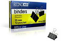 Биндер для бумаги 25 мм, Economix,в  уп 12 шт (E41005)