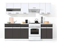 Кухня 240 Junona Line BRW белый глянец/серый вольфрам
