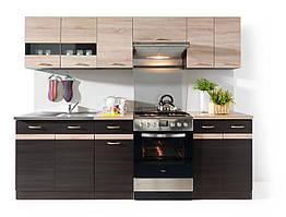 Кухня 240 Junona Line BRW венге/дуб сонома