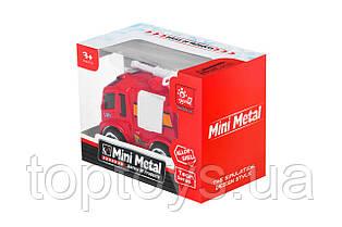 Пожежна машинка Same Toy Mini Metal з брандспойтом (SQ90651-4Ut-1)