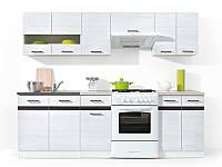 Кухня 240 Junona Line BRW белый/листвинница сибиу светлая