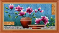 Набор для рисования камнями (холст) 5D Цветы в вазе LasKo