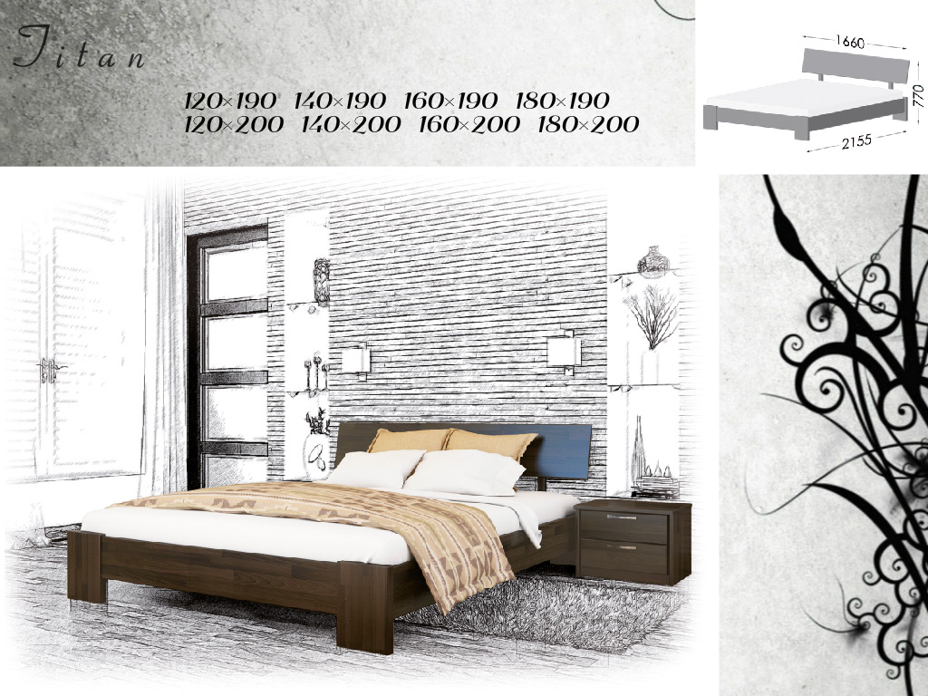 Кровать Титан (клен)