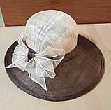 Капелюх на літа з натуральної соломки синамей, фото 2