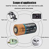 Батарея DURACELL Ultra Lithium CR123, CR17345, 16340 1550mAh (Не заряжаемая литиевая батарейка / до 2026 года), фото 6