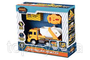 Машинка на радіоуправлінні Same Toy City Сміттєвоз жовтий з білим (F1606Ut)