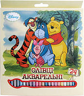 """Карандаши  акварельные 24 цв. """"Maestro"""" Винни Пух"""