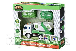 Машинка на радіоуправлінні Same Toy City Сміттєвоз зелений з білим (F1640Ut)
