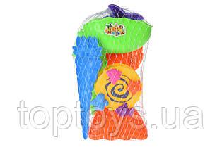 Набір для гри з піском Same Toy з млином 7 предметів зелений (HY-1702WUt)