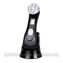 Ультразвуковий масажер для обличчя Black Owl RF + EMS + Фототерапія з ефектом ліфтингу і підтяжки шкіри Чорний