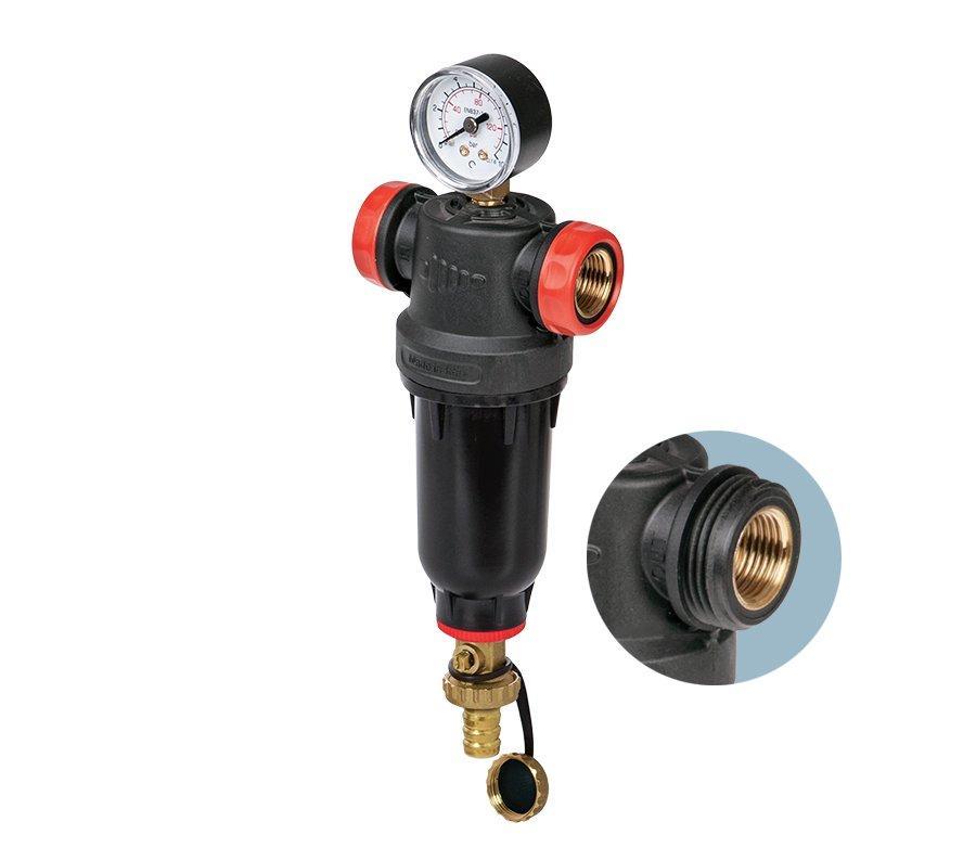 Магистральный промывной фильтр для горячей воды 80 микрон 1\2 или 3\4