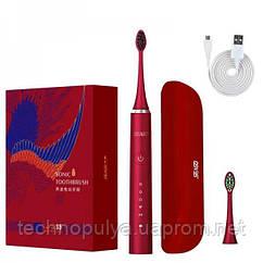 Електрична зубна щітка звукова Seago SG972 Sonic Доросла Червона (263)