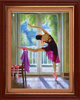 Набор для рисования камнями (холст) 5D Балерина LasKo