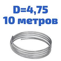 Трубка гальмівна сталева оцінкована діаметром 4,75 мм