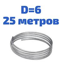 Трубка гальмівна сталева оцінкована діаметром 6,0 мм