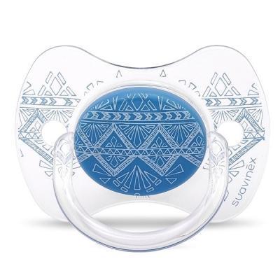 Пустушка Suavinex Couture 4-18 міс темно-синя (304221)