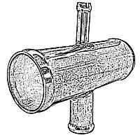 Соединитель патрубков 20х16х20х10 мм тосольный