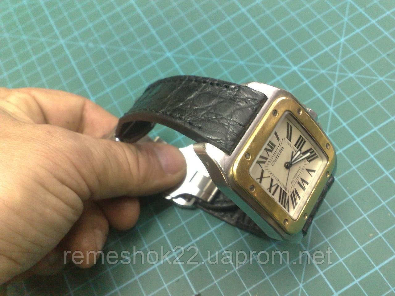 Заказать Ремешок из кожи Крокодила для часов Cartier Santos 100 в ... 5353ddb6bbed3