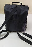 Термосумка для ланча, рюкзак для еды с собой, ланч бэг, терморюкзак для обеда, сумка холодильник. Чёрный, фото 2
