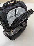 Термосумка для ланча, рюкзак для еды с собой, ланч бэг, терморюкзак для обеда, сумка холодильник. Чёрный, фото 5