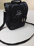 Термосумка для ланча, рюкзак для еды с собой, ланч бэг, терморюкзак для обеда, сумка холодильник. Чёрный, фото 3