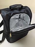 Термосумка для ланча, рюкзак для еды с собой, ланч бэг, терморюкзак для обеда, сумка холодильник. Чёрный, фото 6