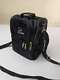 Термосумка для ланча, рюкзак для еды с собой, ланч бэг, терморюкзак для обеда, сумка холодильник. Чёрный, фото 4