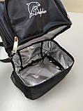 Термосумка для ланча, рюкзак для еды с собой, ланч бэг, терморюкзак для обеда, сумка холодильник. Чёрный, фото 7