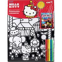 "KITE Раскраска с бархатом А3 ""Hello Kitty"" 5 Фломастеров  арт.HK14-156K"