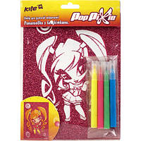 "KITE Раскраска с глиттером В6 ""Pop Pixie"" 4 Фломастера арт.PP14-158K"