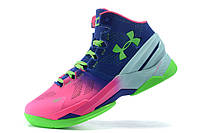 Баскетбольные кроссовки Under Armour Curry 2 pink-blue