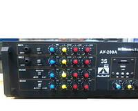 Усилитель звука AMP AV 200A 2*100W 8om