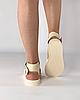 Босоножки женские кожаные бежевые дутики MORENTO, фото 5