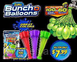 Водяные бомбочки Buncho Balloons водяні бомбочки шаріки набор 111 шаров