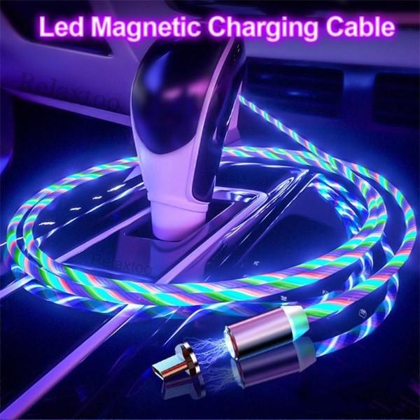 Магнитный светящийся кабель Type-С 1м.