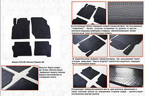 Nissan Almera Classic 2006-2012 рр. Гумові килимки (4 шт, Stingray Premium)
