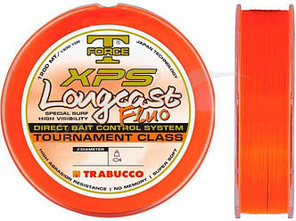 Леска Trabucco T-Force XPS Long Cast Fluo 1200m 0.221mm 6.950kg (оранжевая)