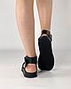 Босоніжки жіночі шкіряні чорні дутики MORENTO, фото 5