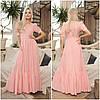 Лляне жіноче плаття максі пудра (2 кольори) НА/-40395
